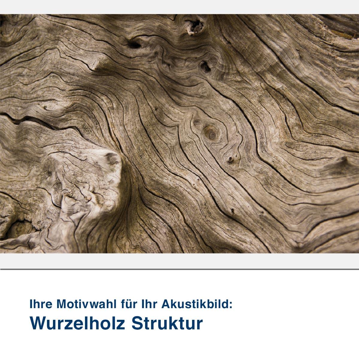 Akustikbild Motiv Wurzelholz Struktur
