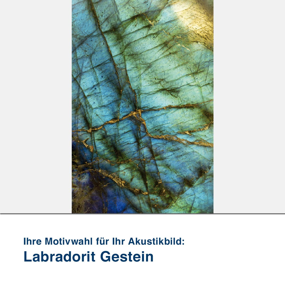 Akustikbild Motiv Labradorit Gestein