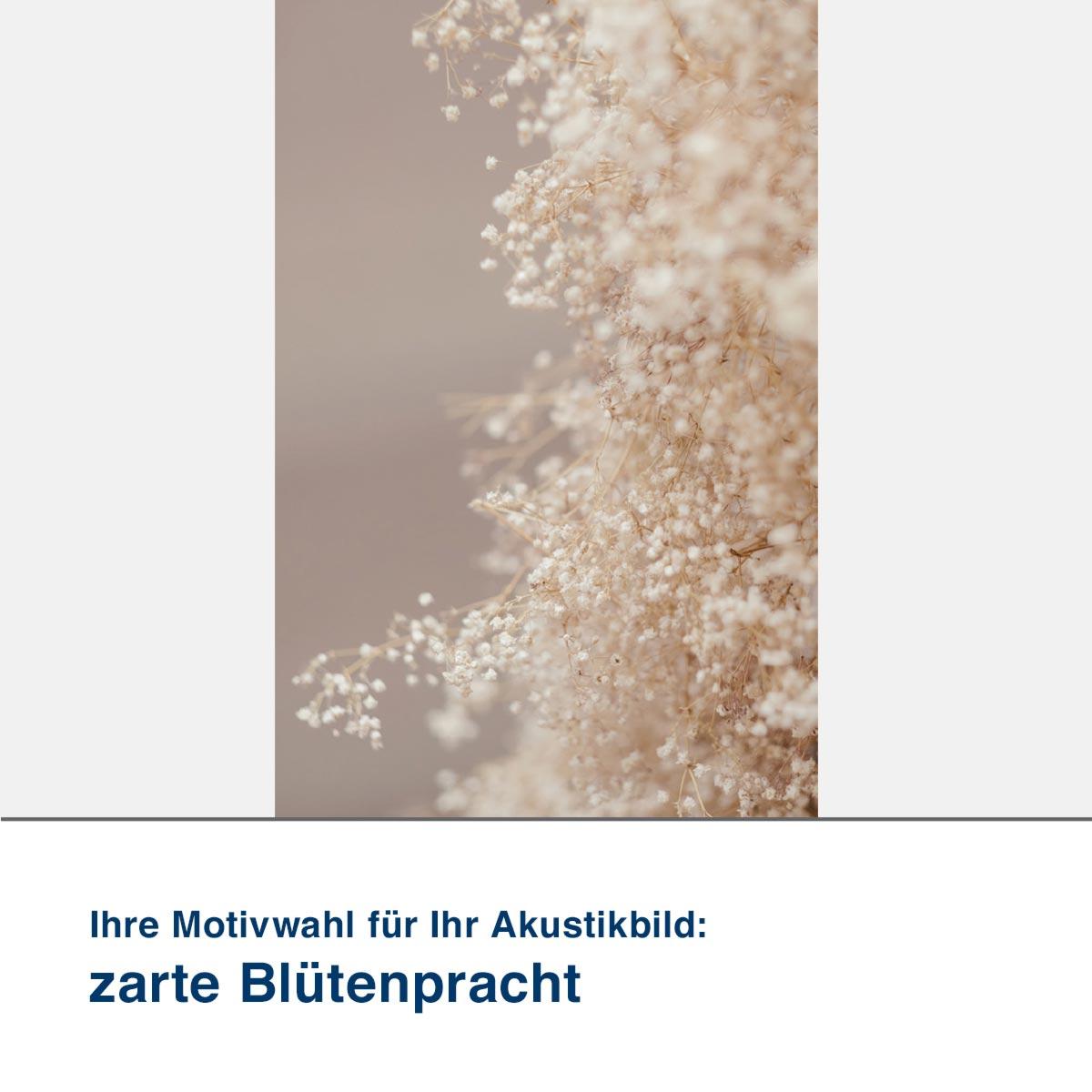 Akustikbild Motiv zarte Blütenpracht