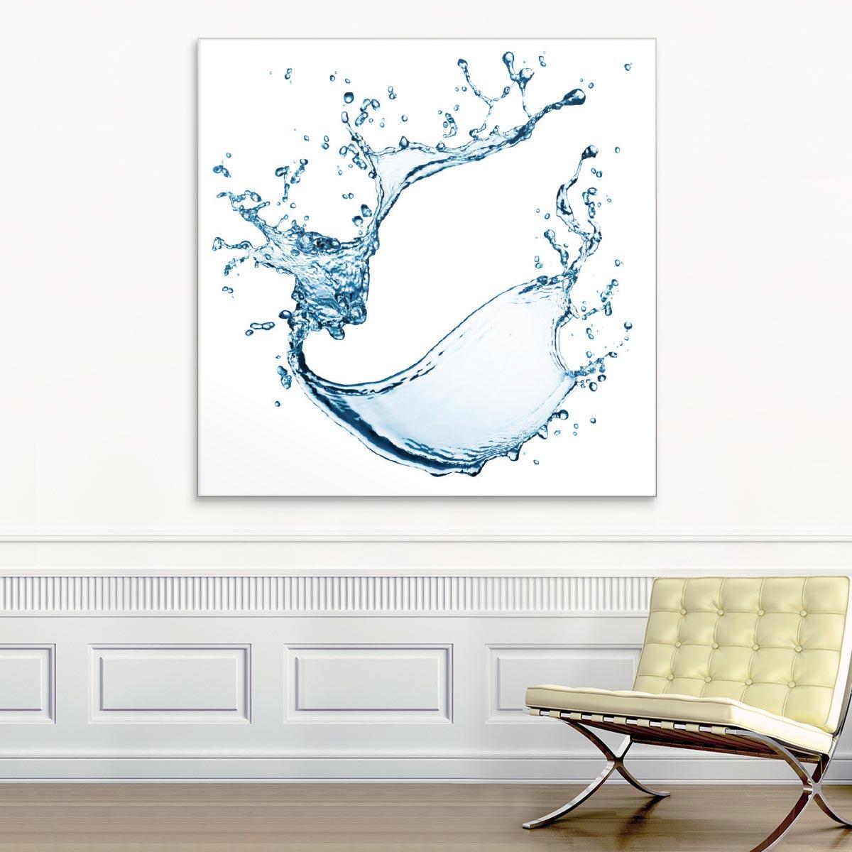 Akustikbild Wassertropfen, Splash