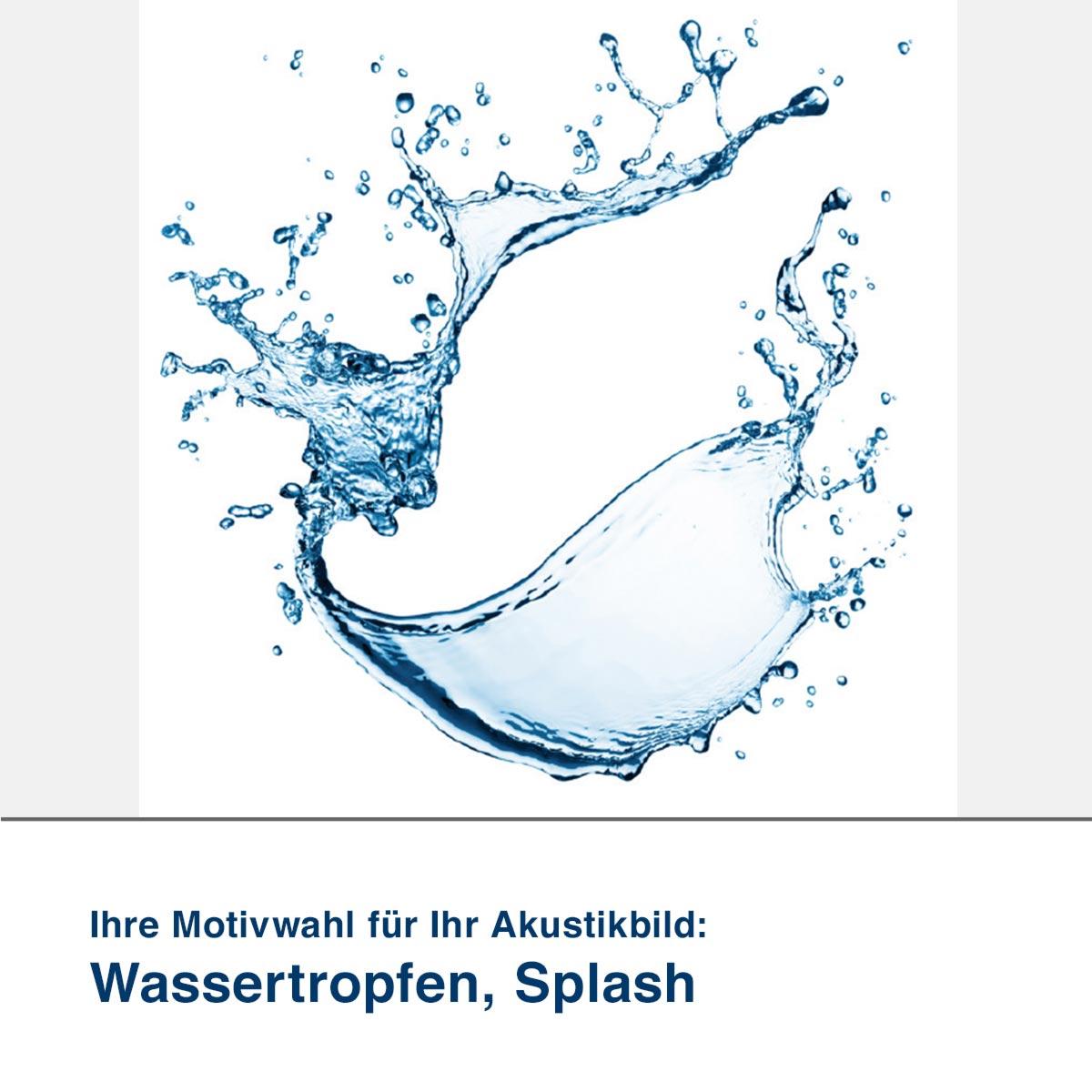 Akustikbild Motiv Wassertropfen, Splash