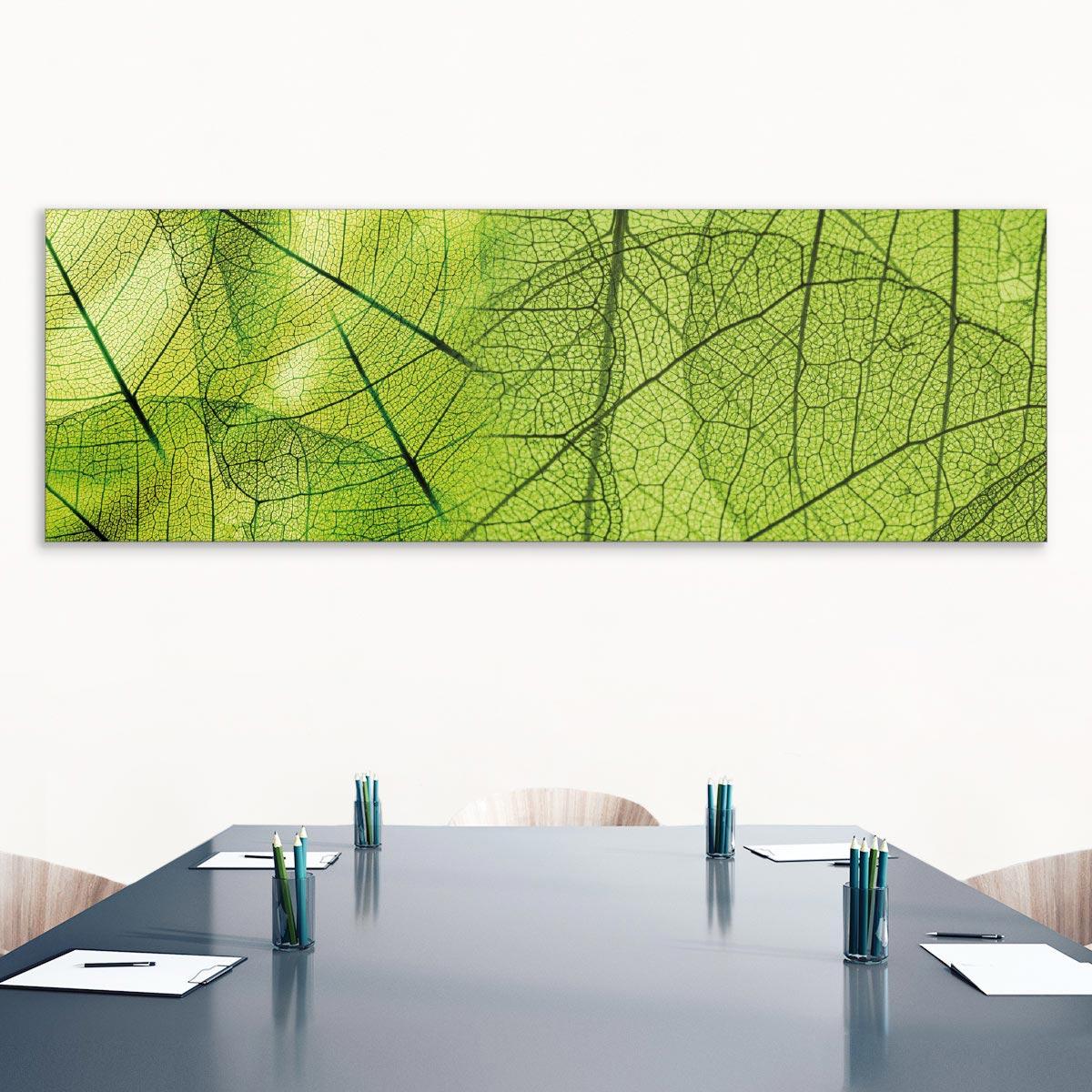 Akustikbild Struktur eines grünen Blattes