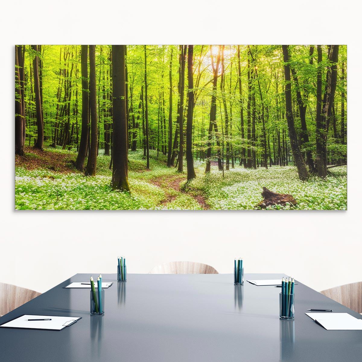 Akustikbild Wald, einseitig, Wandmontage