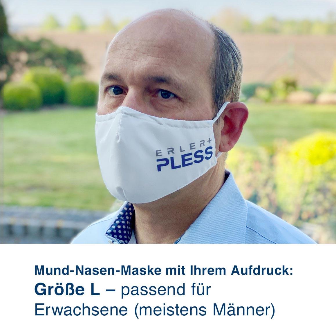 Mund-Nasen-Maske mit Ihrem Motiv – Größe L