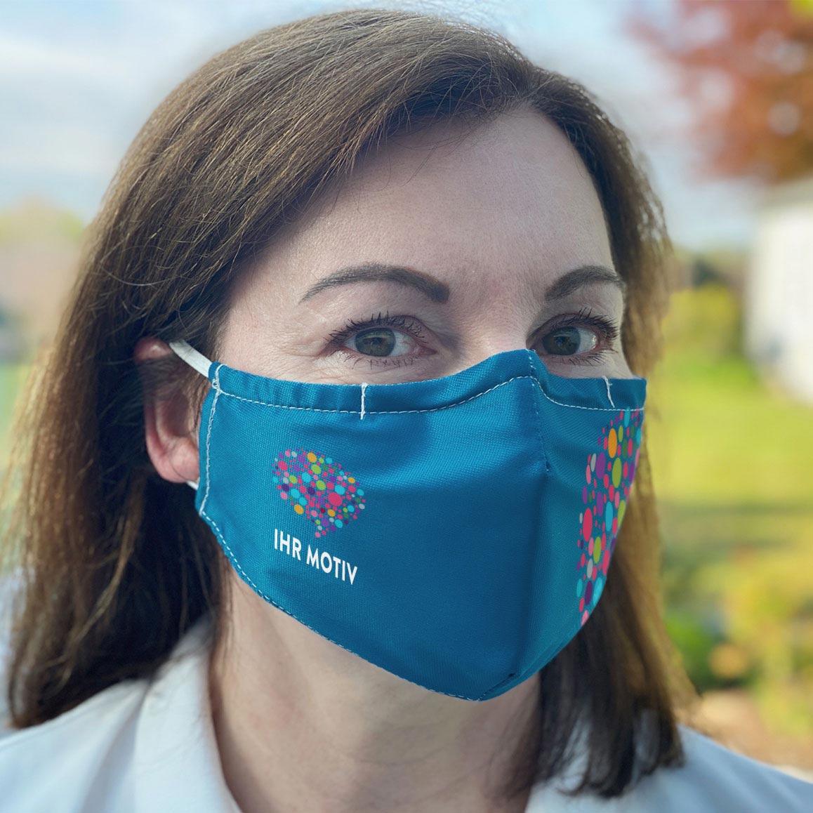 Mund-Nasen-Maske mit Ihrem eigenen Motiv bedruckt