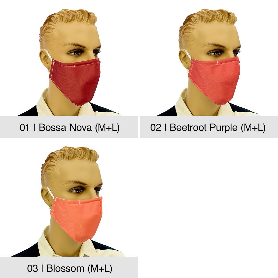"Community-Maske ""Fashion"", Bossa Nova, Beetroot Purple, Blossom"