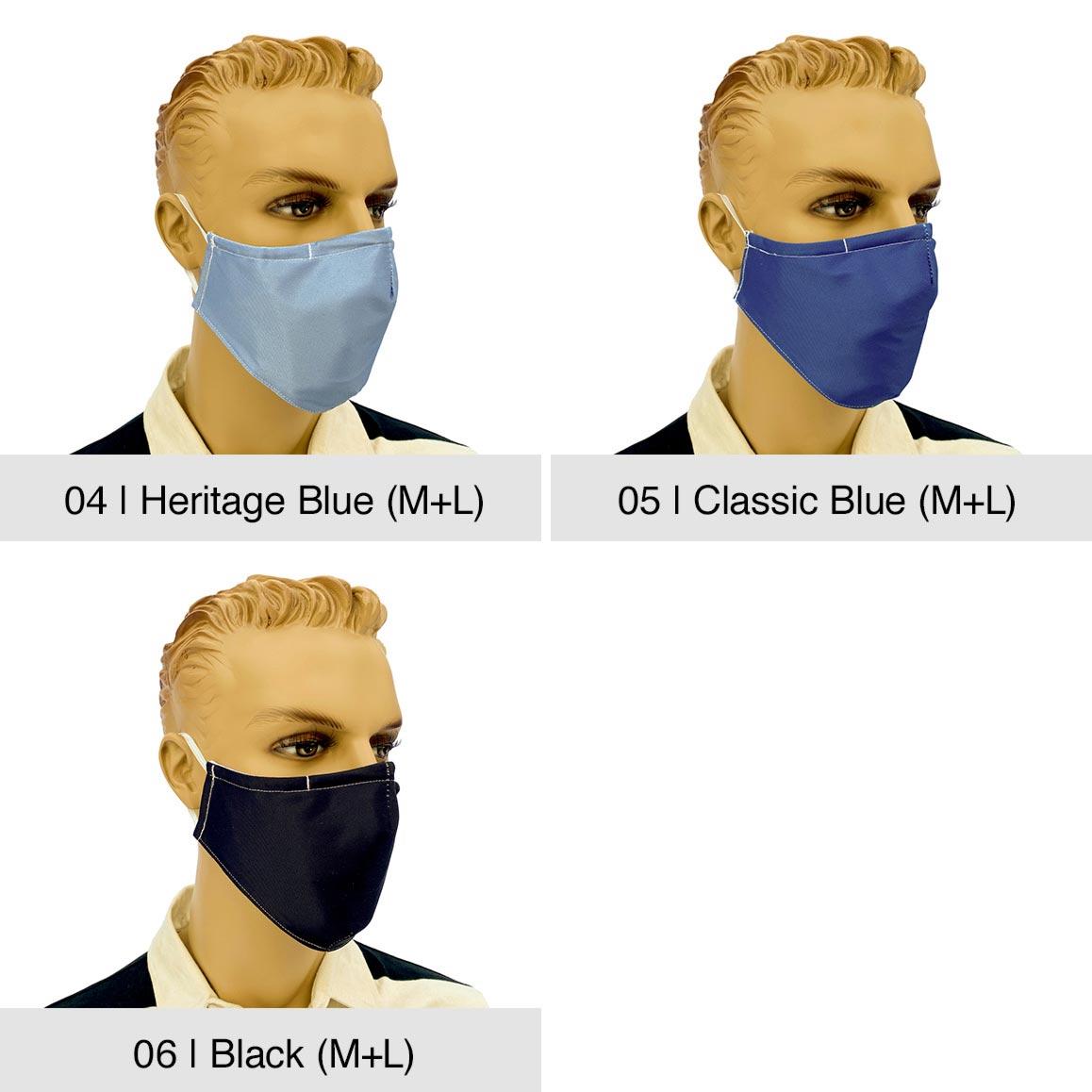 "Community-Maske ""Fashion"", Heritage Blue, Classic Blue, Black"
