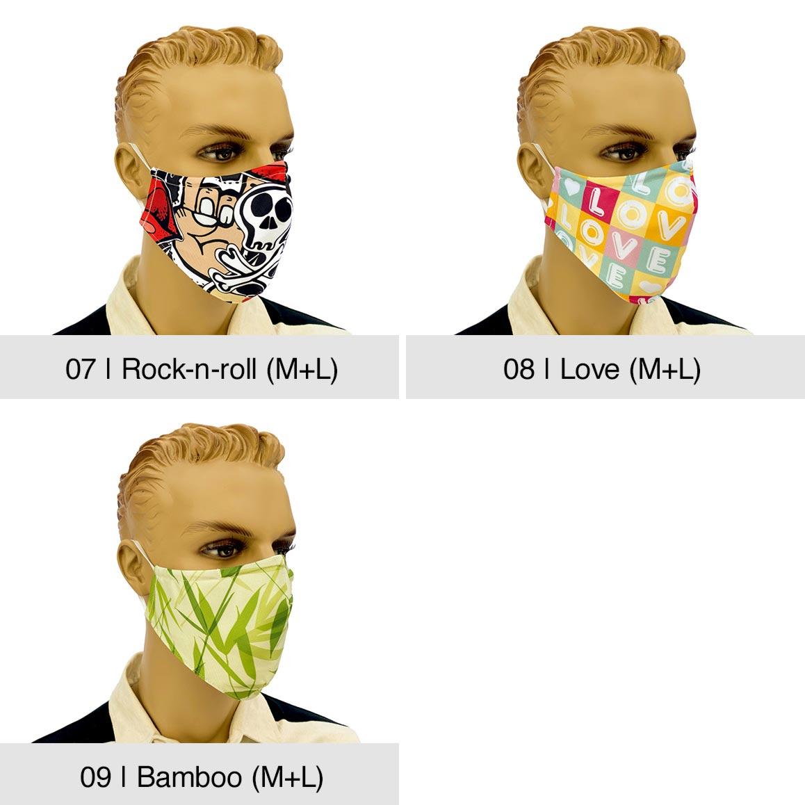 """Community-Maske """"Fashion"""", Rock-n-roll, Love, Bamboo"""