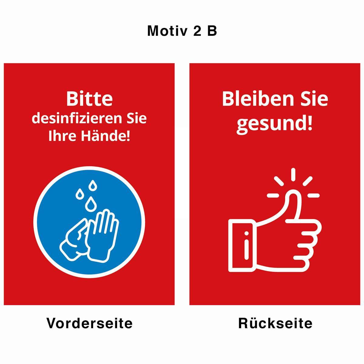 Desinfektionsständer - Motiv 2 B