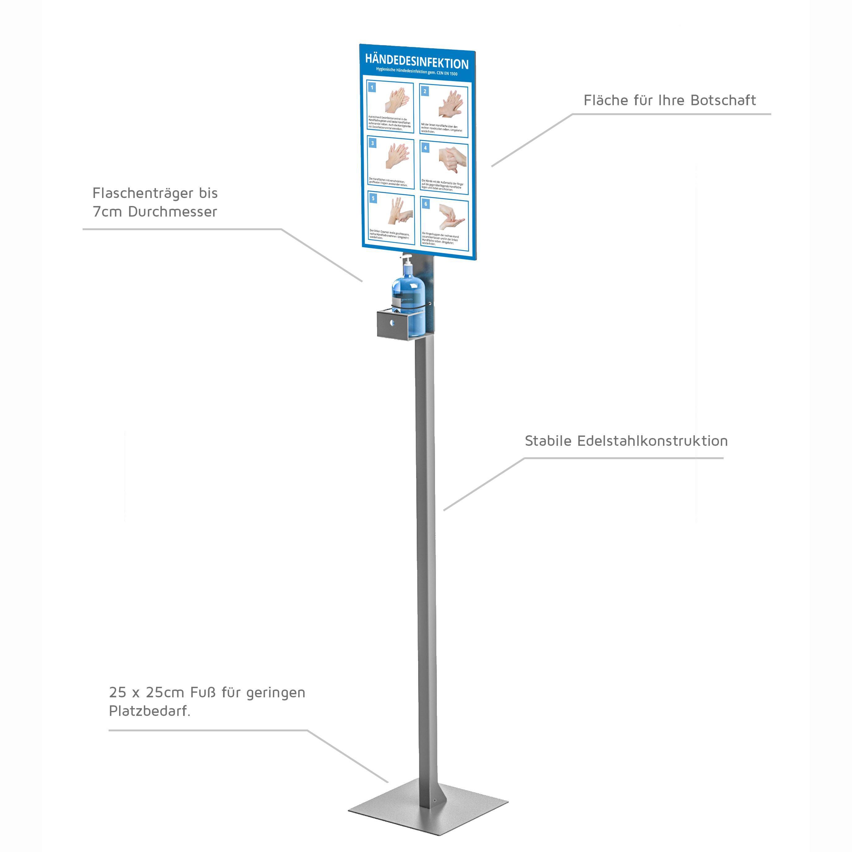 Desinfektionsständer – praktisch, formschön, mobil.