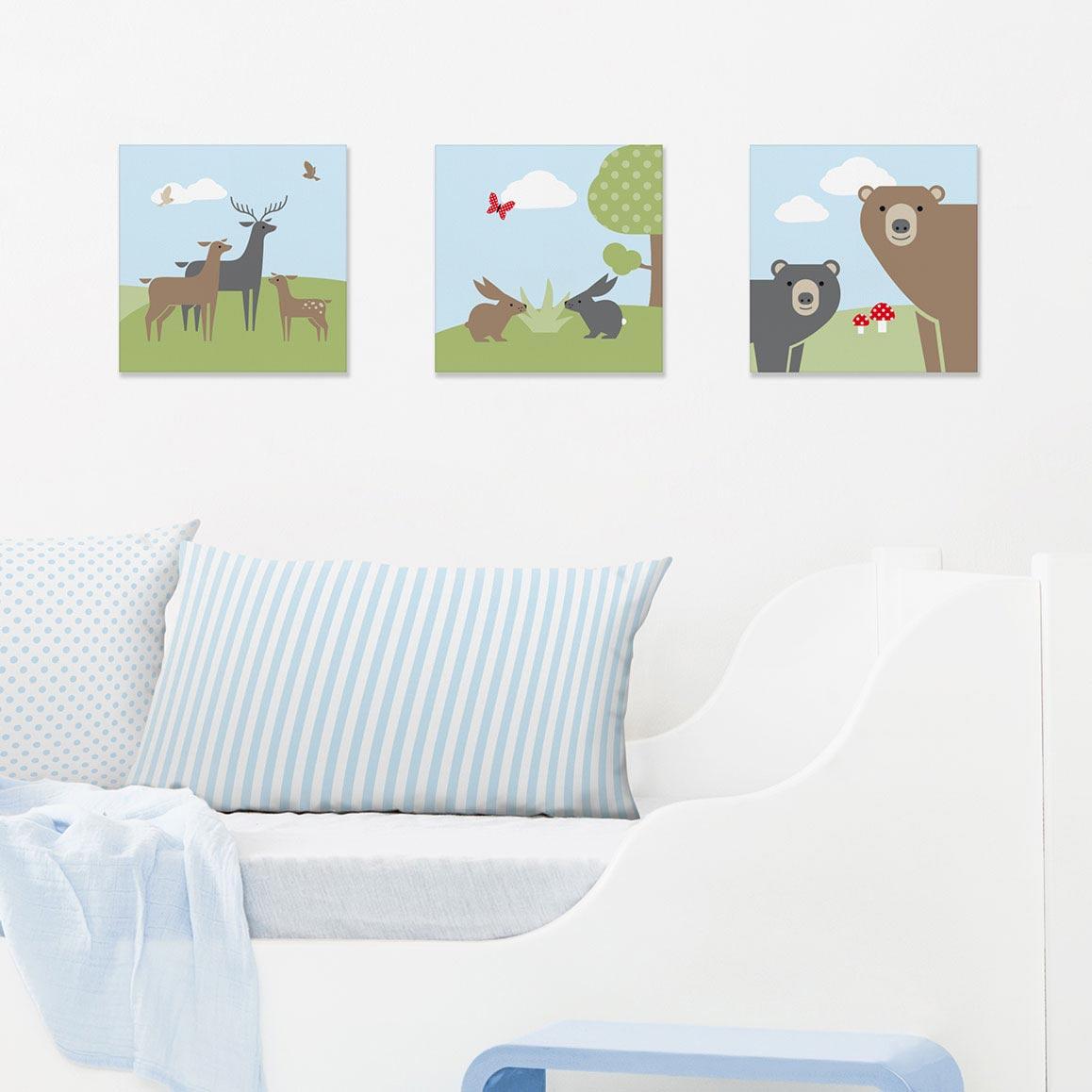 Bilder-Set mit Waldmotiven, Bears