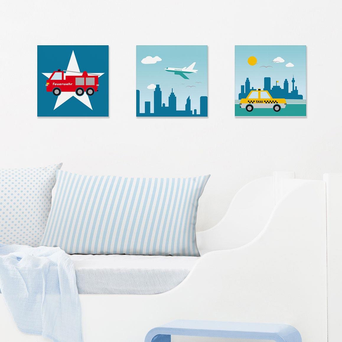Bilder-Set mit Stadtmotiven, City by Day
