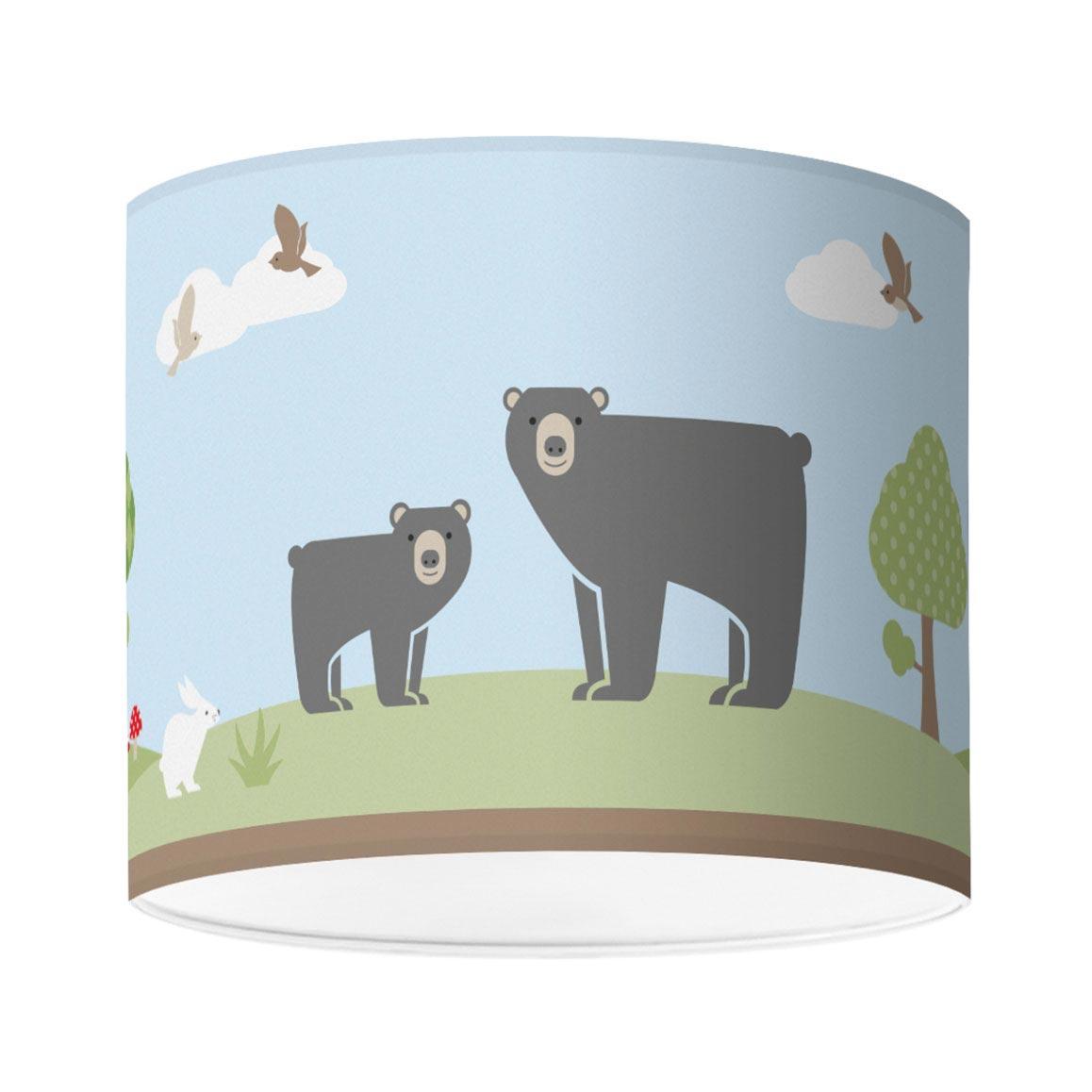 Kinderzimmerlampe mit Waldmotiv, Bears