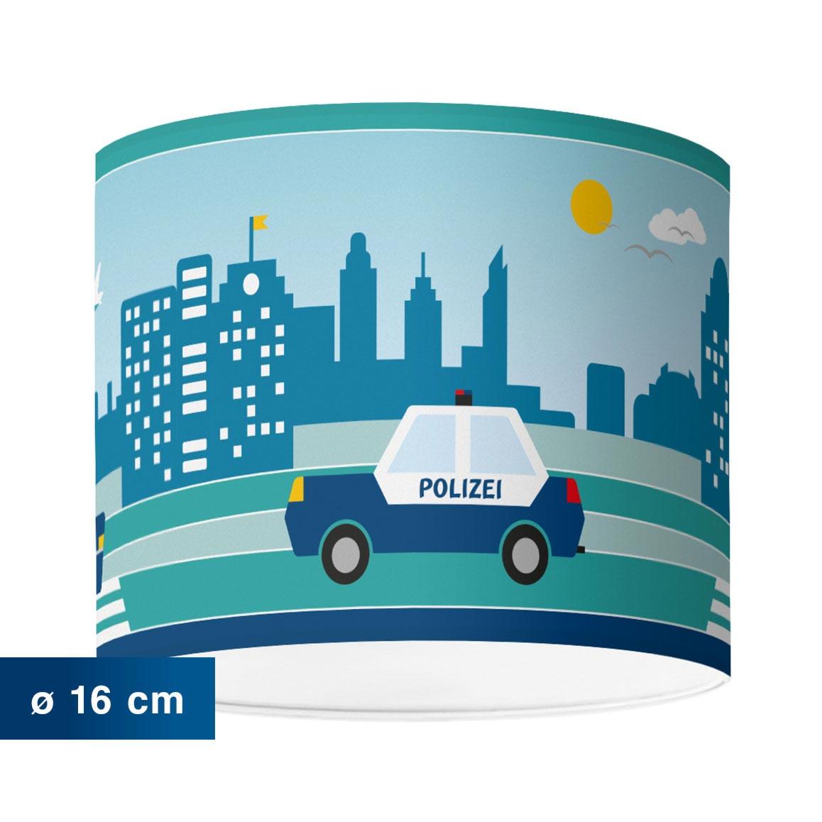 Kinderzimmerlampe mit Stadtmotiv, City by Day