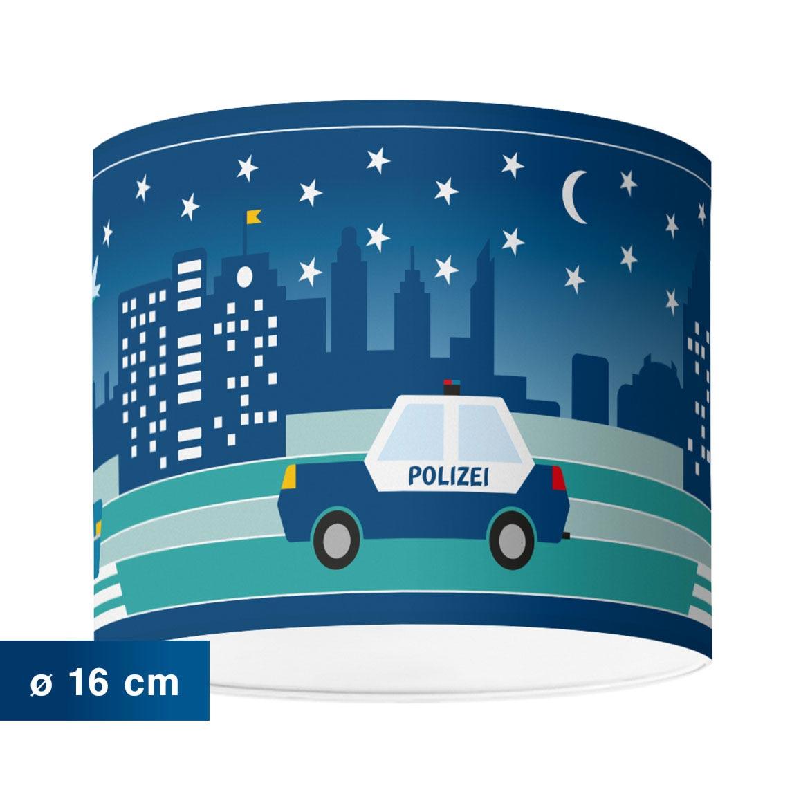 Kinderzimmerlampe mit Stadtmotiv bei Nacht, City by Night