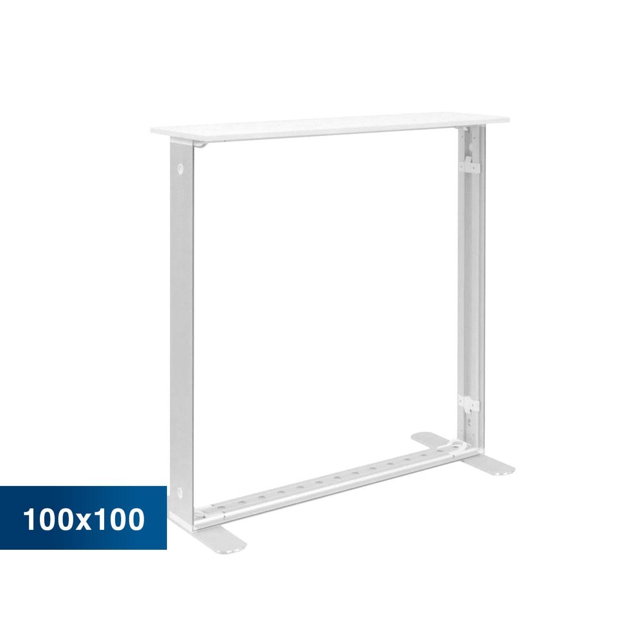 Mobile Light Box Counter im Format 100 × 100 cm ohne Textildruck
