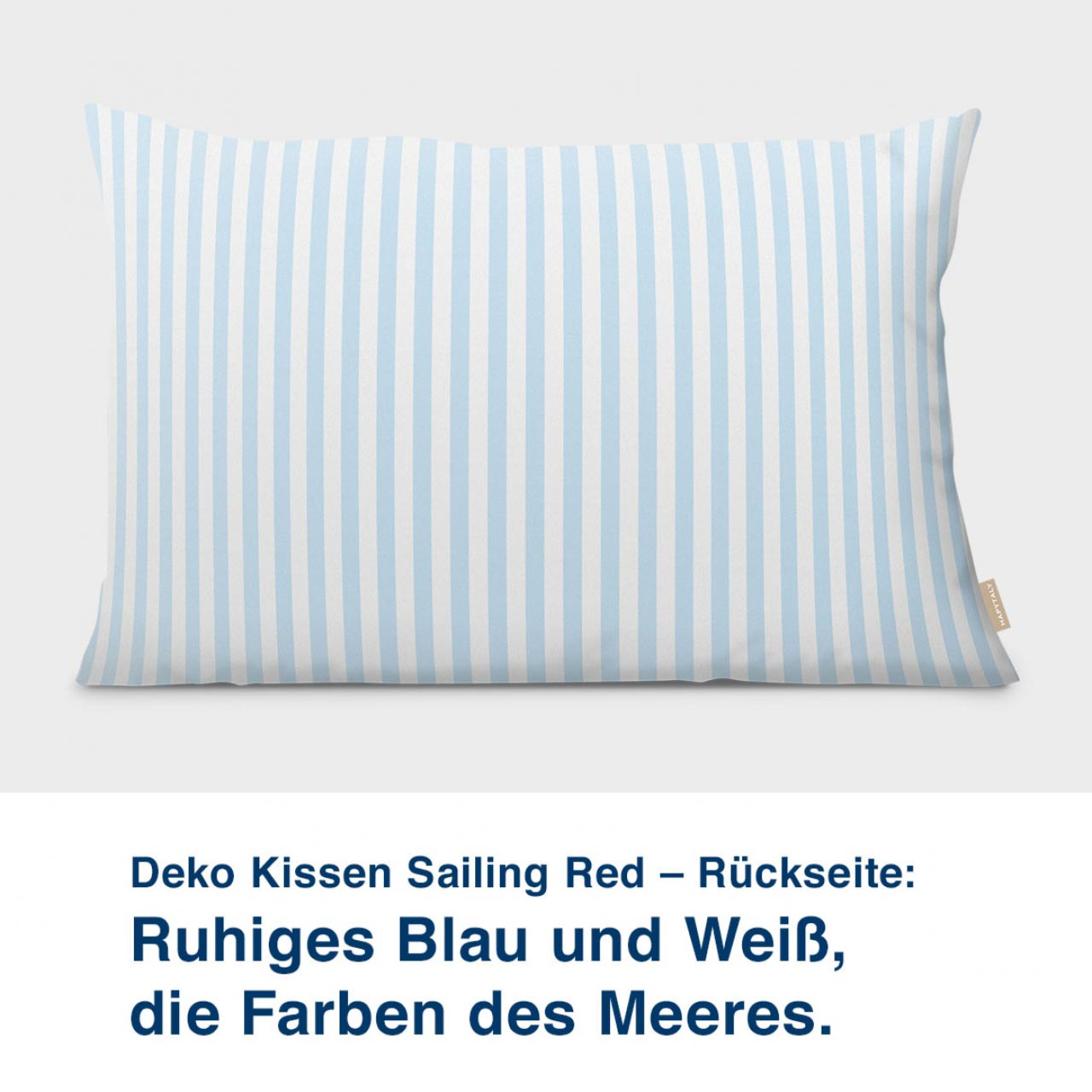 Kissen-Rückseite, maritimes Design mit Leuchtturm, Sailing Red 60 x40 cm