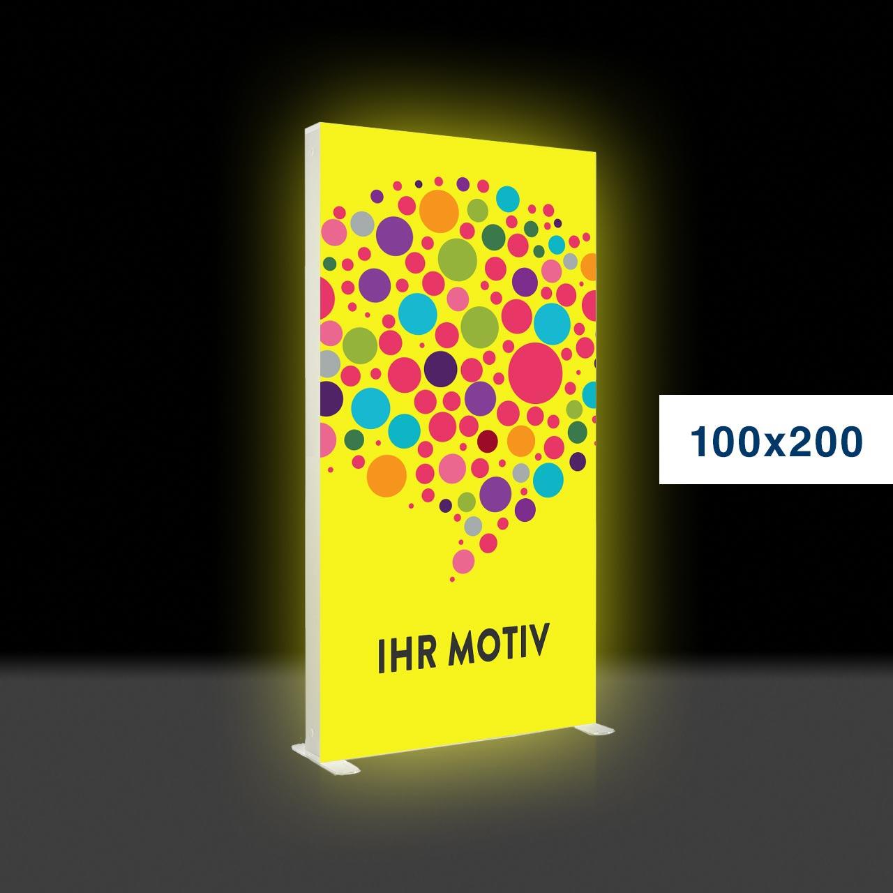 Der leuchtende mobile Werbeaufsteller – Mobile Light Box 100x200