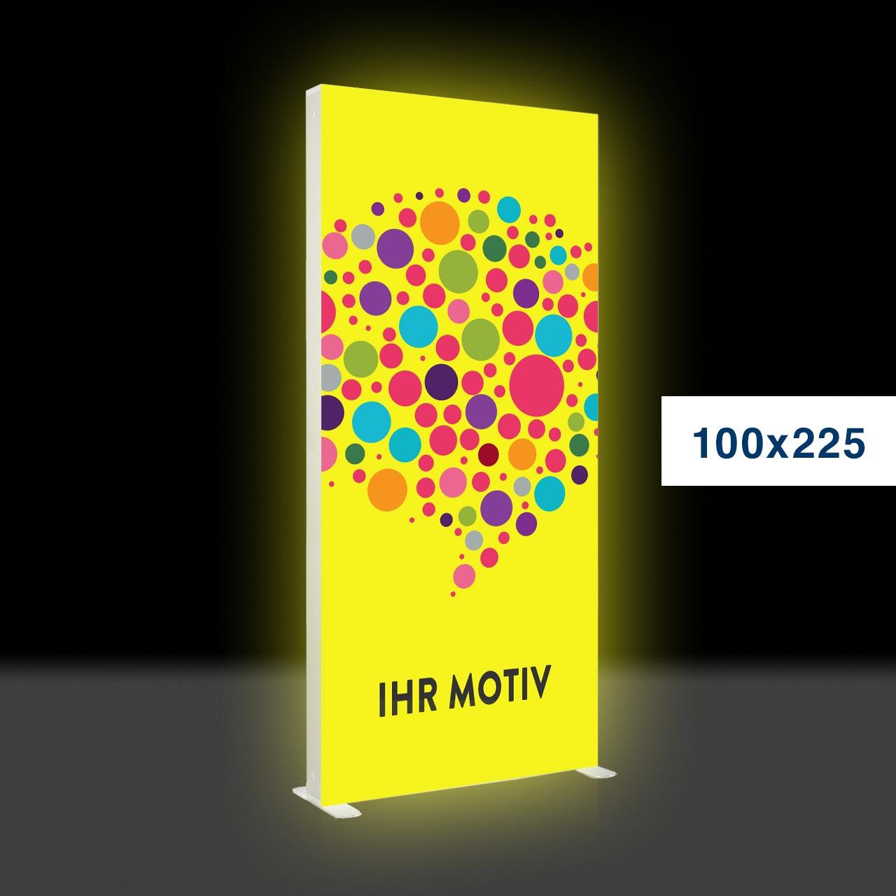 Der leuchtende mobile Werbeaufsteller – Mobile Light Box 100x225