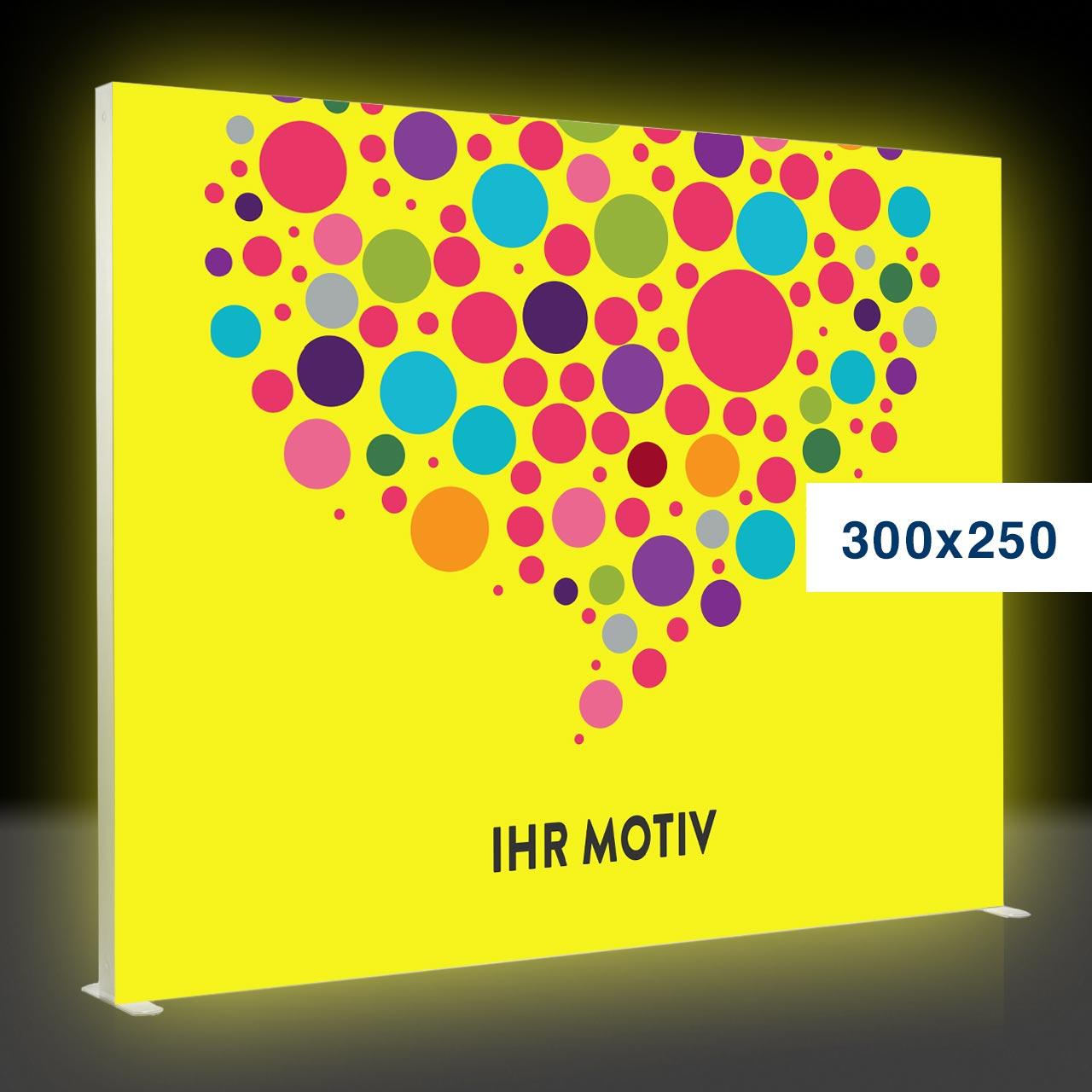 Der leuchtende mobile Messestand – Mobile Light Box 300x250