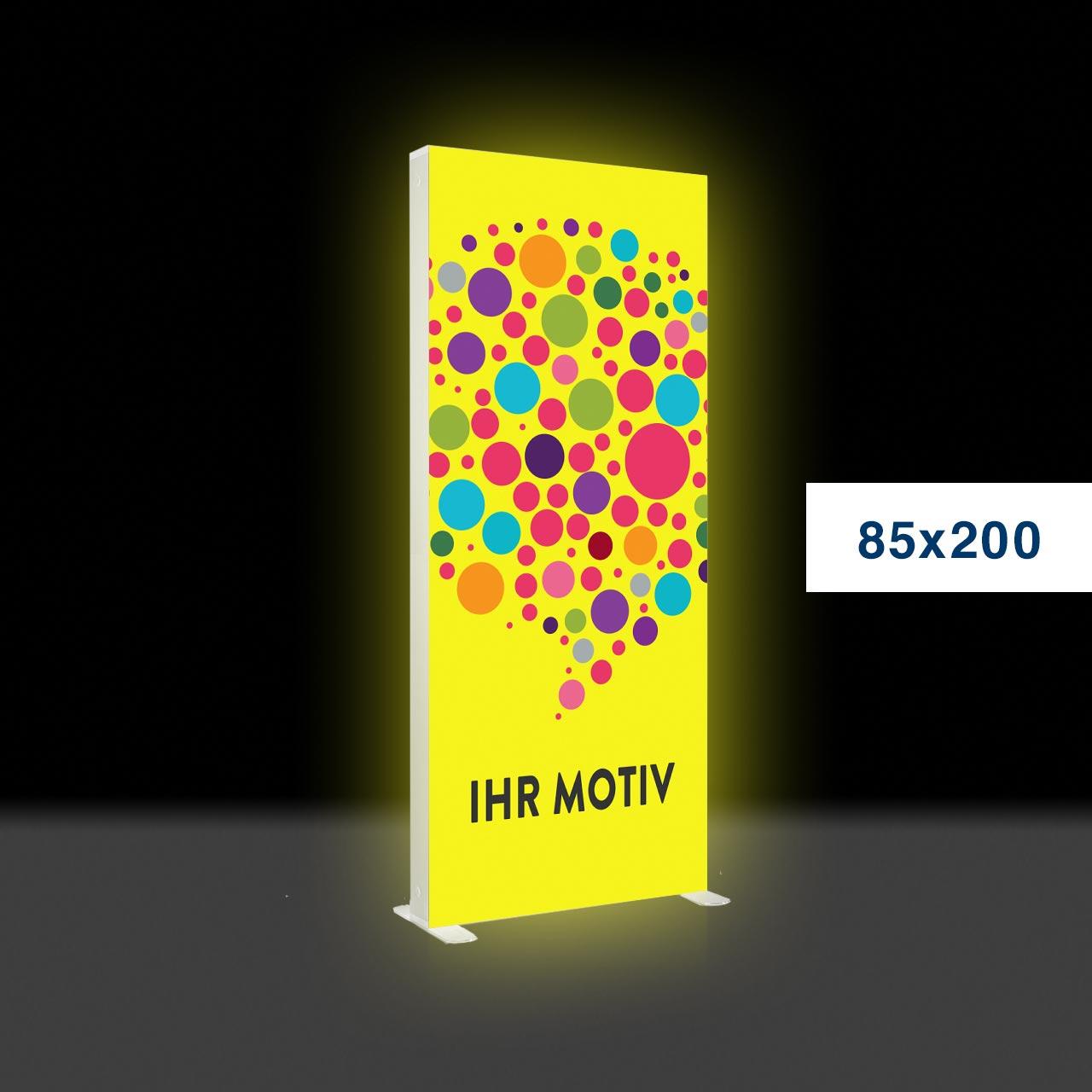 Der leuchtende mobile Werbeaufsteller – Mobile Light Box 85x200