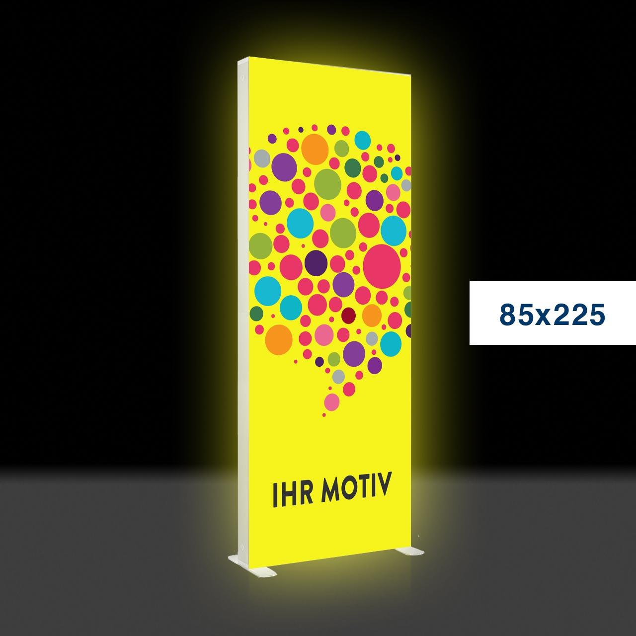 Der leuchtende mobile Werbeaufsteller – Mobile Light Box 85x225