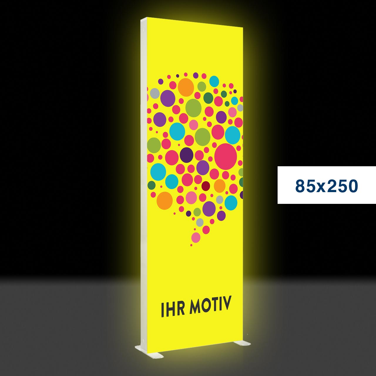 Der leuchtende mobile Werbeaufsteller – Mobile Light Box 85x250