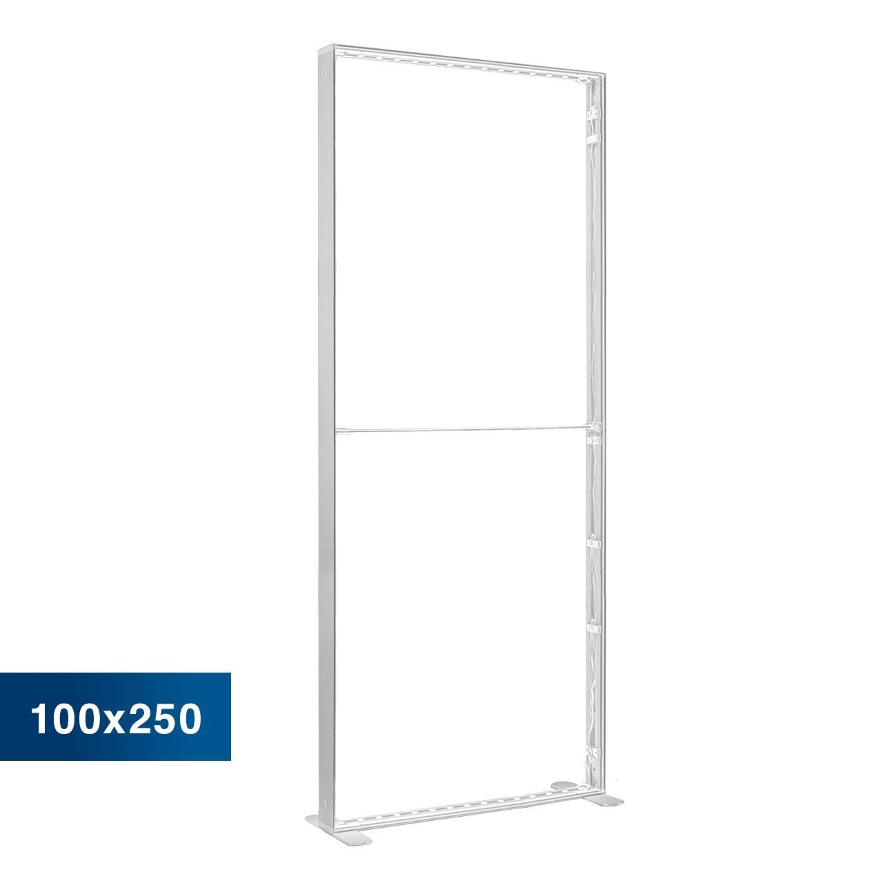 Mobile Light Box im Format 100 × 250 cm ohne Textildruck