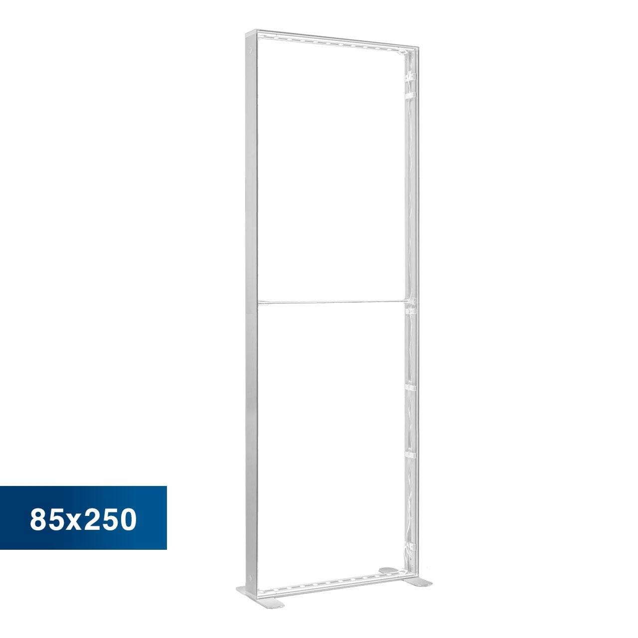 Mobile Light Box im Format 85 × 250 cm ohne Textildruck