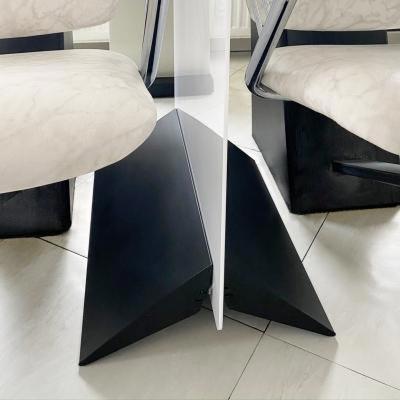 Milchglas-Acryl Trennwand aus opalem Acrylglas mit Aluminium-Standfuß