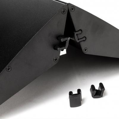 Aluminium-Standfuß schwarz für Acryl-Trennwand