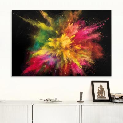 Akustikbild Farbexplosion