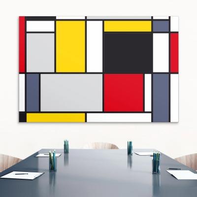 Akustikbild Farbflächen Mondrian Style