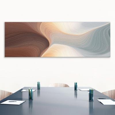 Akustikbild Wellen in Pastell