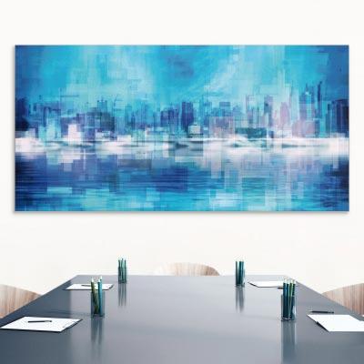 Akustikbild New York Skyline in blau