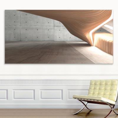 Akustikbild Wellen Holz & Beton