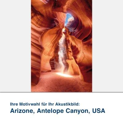 Akustikbild Motiv Arizone, Antelope Canyon, USA