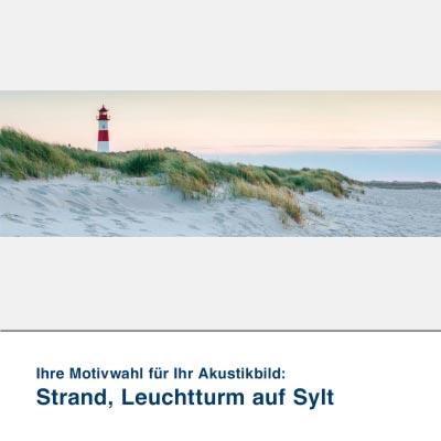 Akustikbild Motiv Strand, Leuchtturm auf Sylt