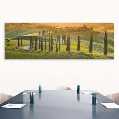 Akustikbild Zypressenallee in der Toskana, Italien