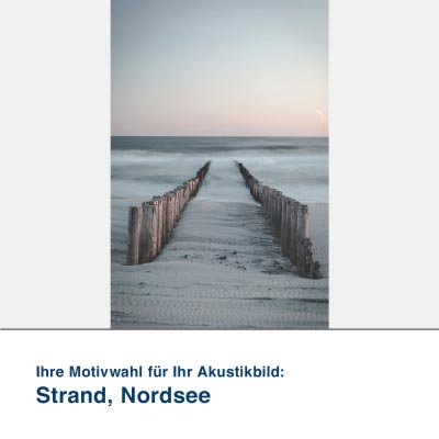 Akustikbild Motiv Strand, Nordsee