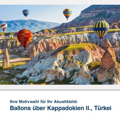 Akustikbild Motiv Ballons über Kappadokien II., Türkei