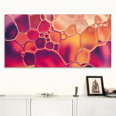 Akustikbild Farbenspiel in einer Wasserblase