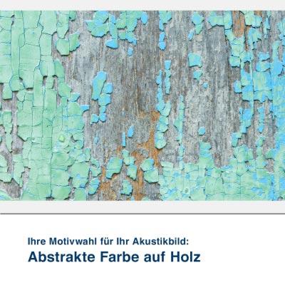 Akustikbild Motiv Abstrakte Farbe auf Holz