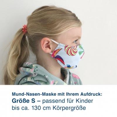 Mund-Nasen-Maske mit Ihrem Motiv – Größe S