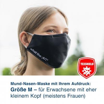 """Mund-Nasen-Maske M """"MyDesign"""" mit Ihrem Aufdruck und antiviraler Beschichtung"""