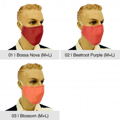 "Community-Maske ""Fashion"", Bossa Nova, Beetroot Purple, Blossom"