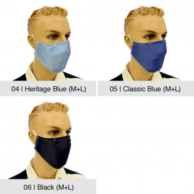 "Community-Maske ""Fashion"", Heritage Blue, Classic Blue, Black"
