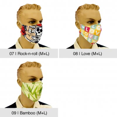 "Community-Maske ""Fashion"", Rock-n-roll, Love, Bamboo"