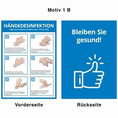 Desinfektionsständer - Motiv 1 B