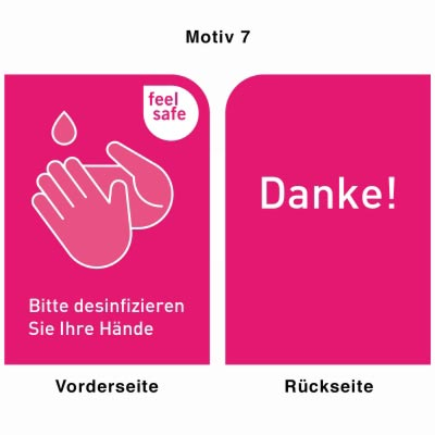 Desinfektionsständer - Motiv 7